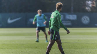 Gnabry bricht Training ab