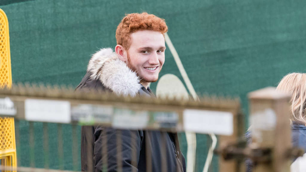 Josh Sargent im November 2017 am Trainingsgelände in Bremen.