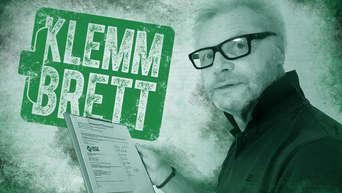 Wissenswertes zum Werder-Spiel gegen den FC Schalke 04: Hans-Günter notiert es auf seinem Klemm-Brett.