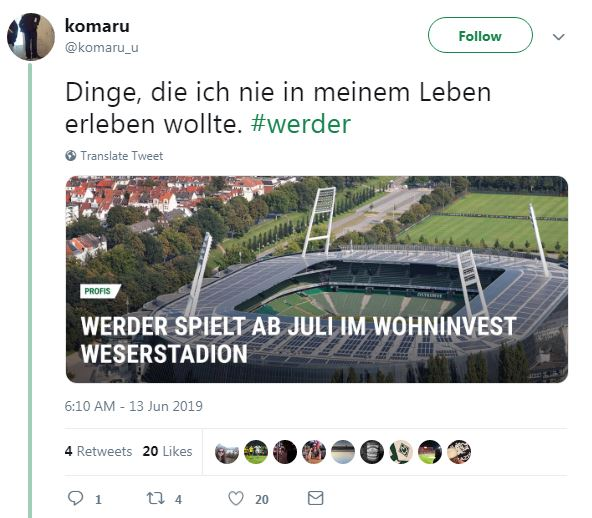 Weserstadion Neuer Name