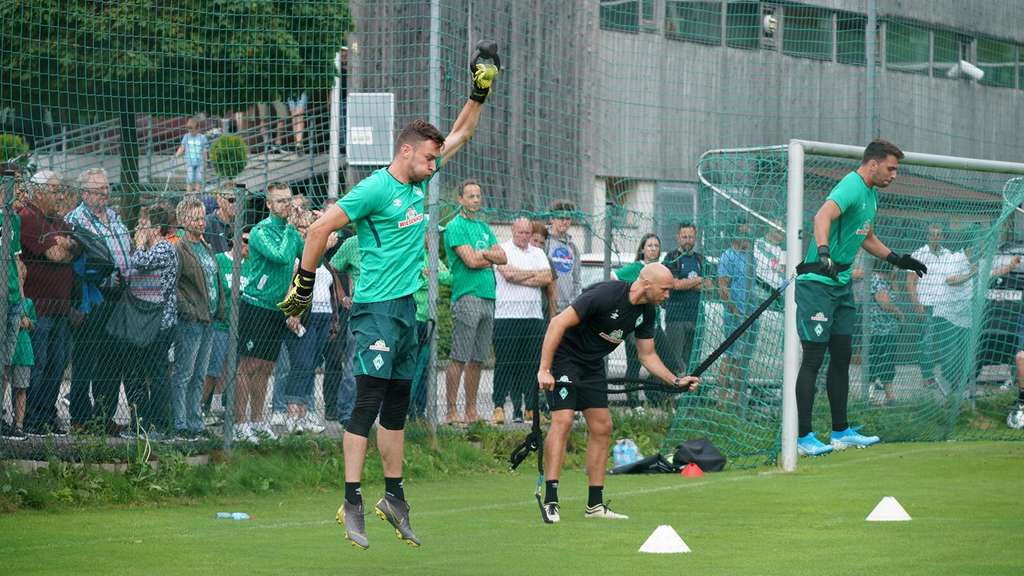 Pavlas beim Training am Montagmorgen.